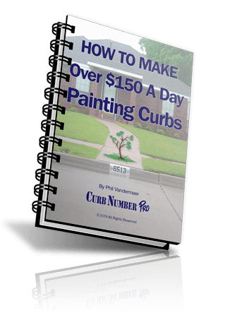 learn how to make money painting curbs
